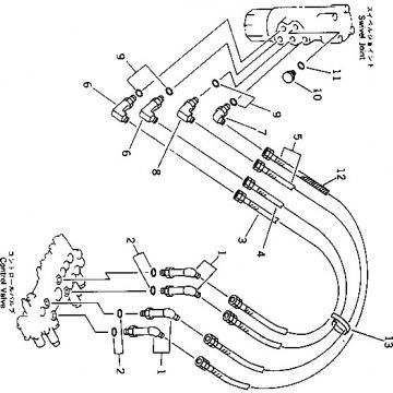 Komatsu D37EX-21A-M Reman Dozer Travel Motor