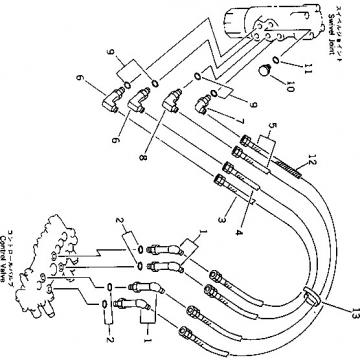 Komatsu D39EX-21A Reman Dozer Travel Motor