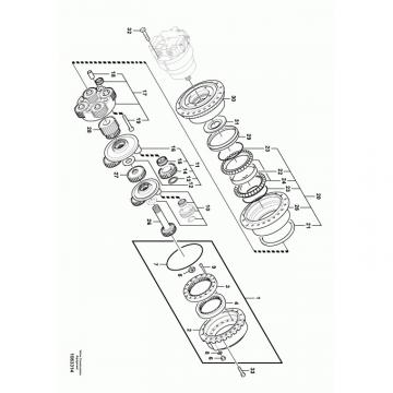 Komatsu PC35MR-2 Hydraulic Final Drive Motor