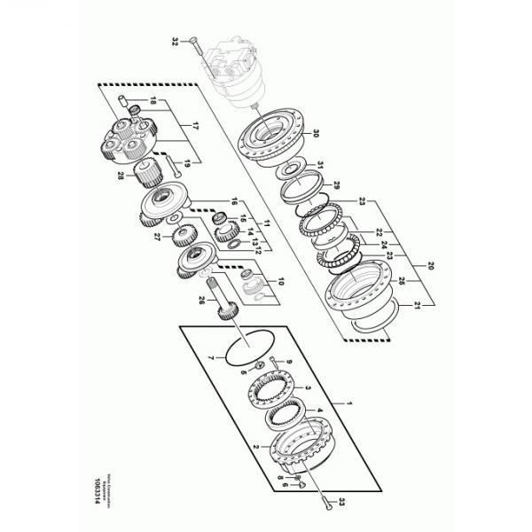 Komatsu PC27MR-2-B Hydraulic Final Drive Motor #1 image